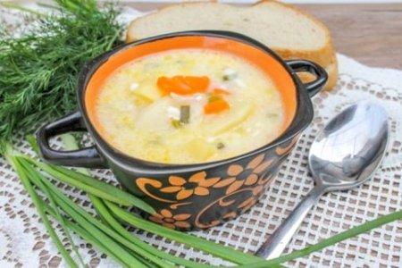 Суп из плавленных сырков.
