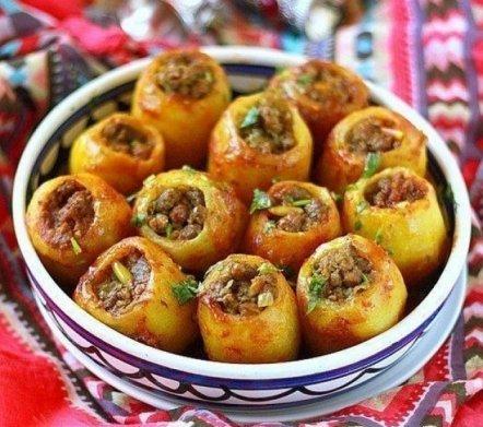 Картошка ,фаршированная мясом