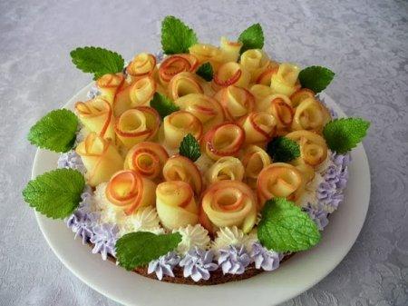 Пирог - Букет роз
