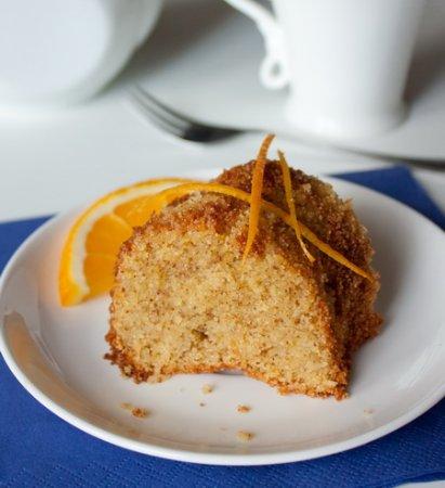 Апельсиновый пирог на кукурузной пытке