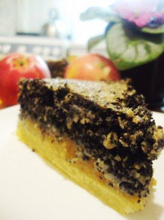 Мазурек с яблоками и маком - обычный польский пирог