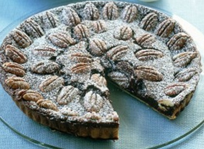 Шоколадный пирог с орешками  пекан